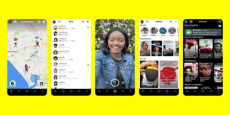 Neue Funktionen bei Snapchat