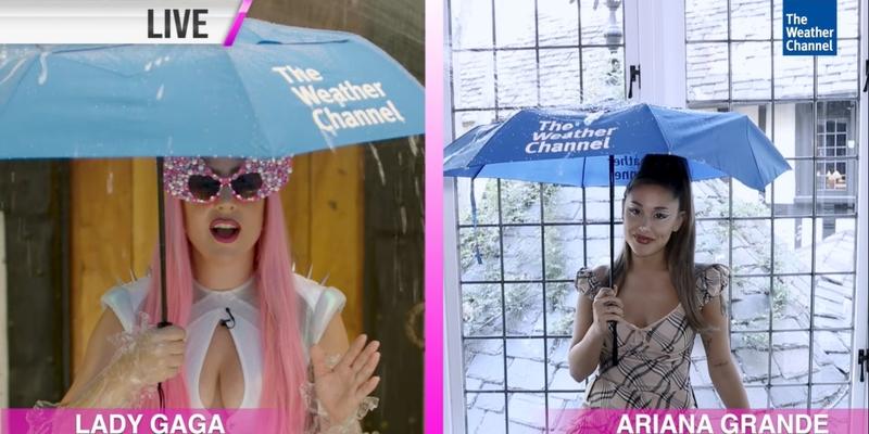 Der Weather Channel bewirbt Lady Gagas neue Single 'Rain On Me'